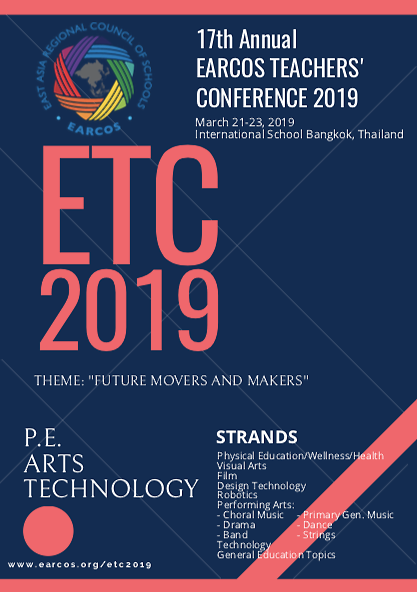EARCOS Teacher's Conference 2019: experiencing the vanguard of teaching.